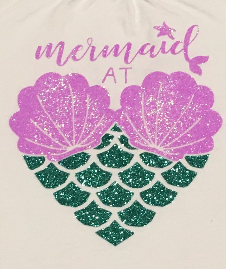 Mermaid at Heart Shirt - glitter mermaid shirt - sea shell mermaid - mermaid life - by LakesideDesigns1 on Etsy