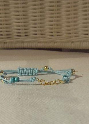 Kup mój przedmiot na #vintedpl http://www.vinted.pl/akcesoria/bizuteria/16753365-wakacyjna-pleciona-bransoletka-w-kolorze-morskim