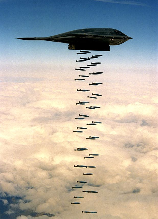 """B-2 Stealth """"Carpet Bombing"""" - I do not like war but am so proud of our military and awestruck by what the USA is capable of!"""