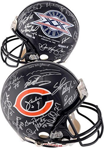 1985 Chicago Bears Team Signed Super Bowl XX Logo Riddell Pro-Line Authentic Helmet - Fanatics Authentic Certified