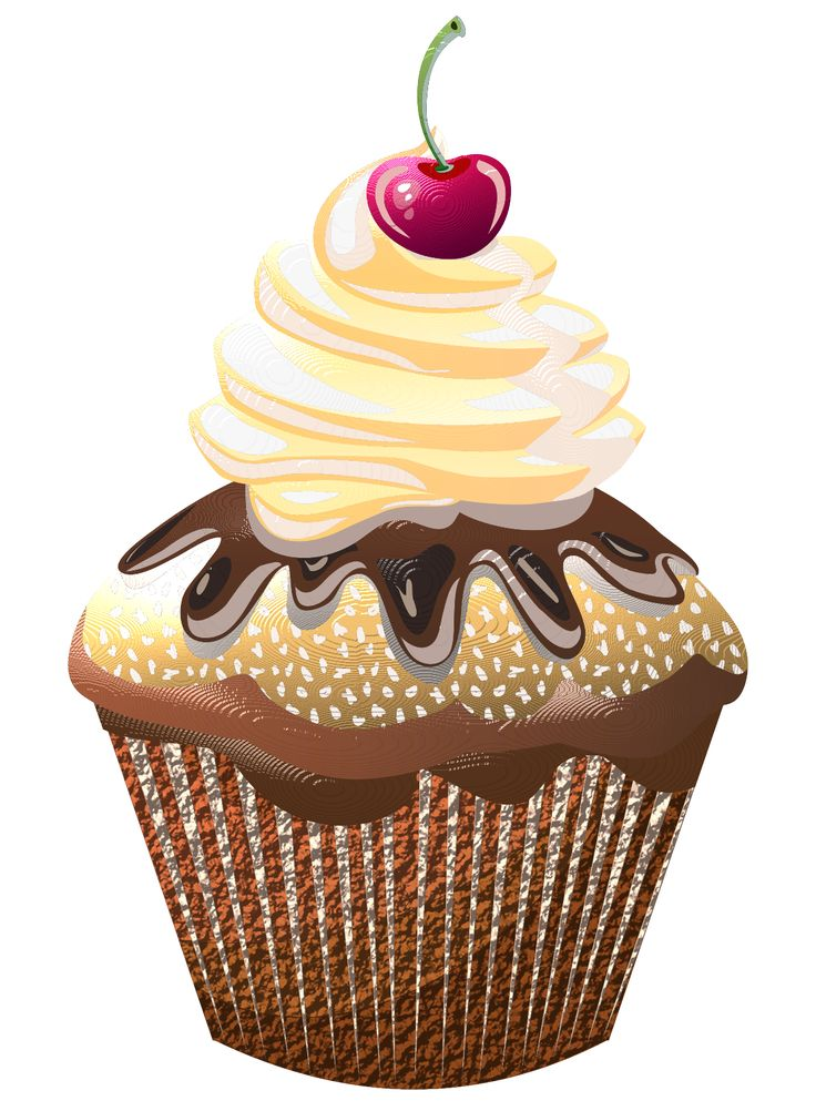 clip art sweets cupcakes