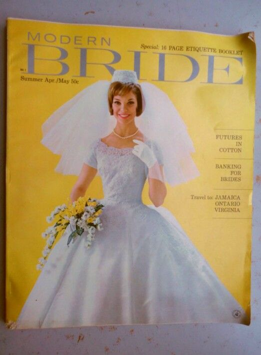 MODERN BRIDE MAGAZINE Summer April May 1962 Issue
