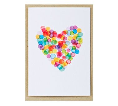 confetti heart card - poppies for grace