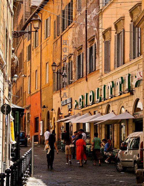 Giolitti is oldest gelato cafe (gelaterie) in Rome and has been in the same family since 1900. They have about 50 homemade flavours to try. Giolitti Roma by Kev Morris On_the_move_be_right_back_soon :-), via Flickr