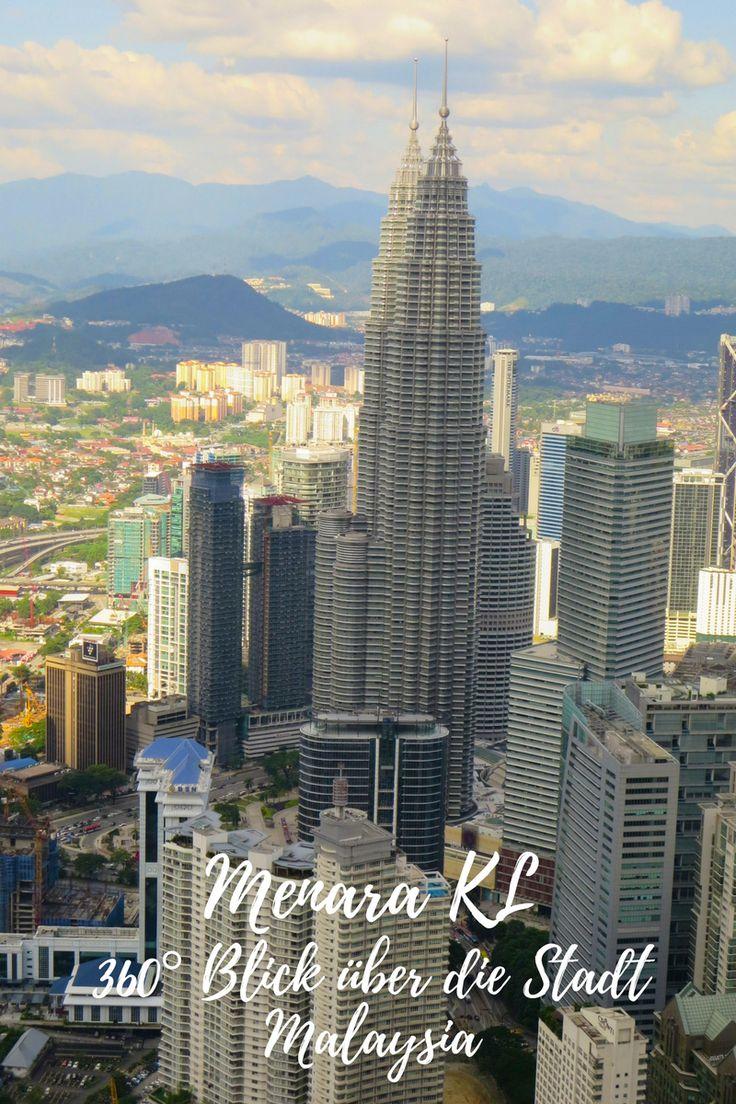 Menara KL- 360° Blick über die Stadt, Kuala Lumpur, Malaysia