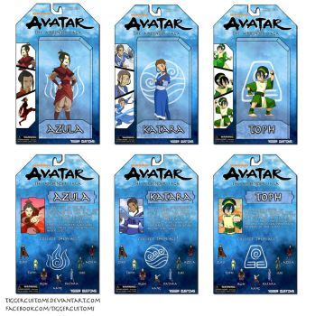 Avatar Airbender Action Figure Packaging Design by TiggerCustoms