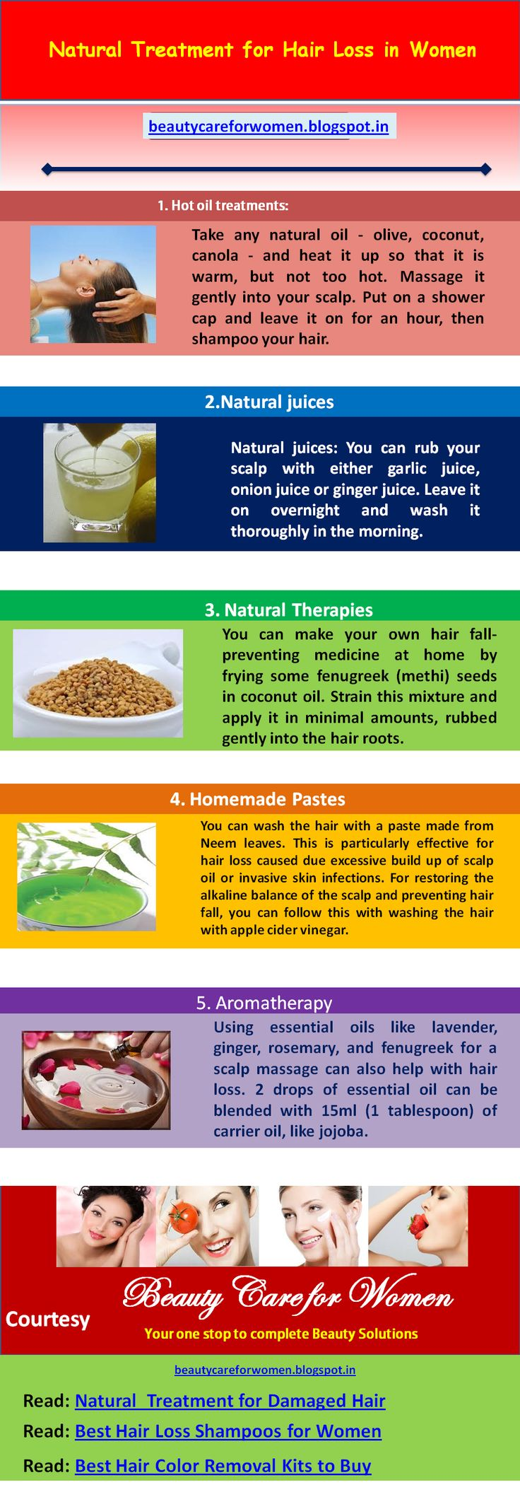 Natural Treatment for Hair Loss in Women and the Best Hair Loss Shampoos you must buy