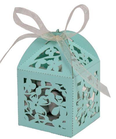aqua wedding - favor boxes