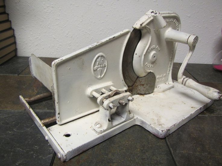 Antique Hand CRANK MEAT SLICER by General Slicing Machine Co. of N.Y.** model no. 270 by mauryscollectibles on Etsy