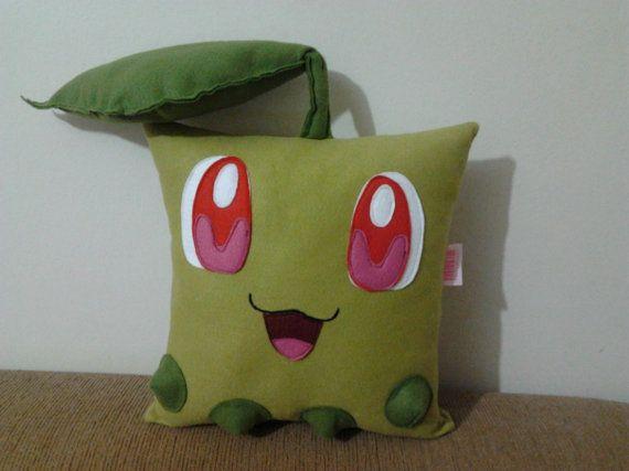 La main Pokemon Chikorita partie Favor cadeau peluche jouet Animal en peluche coussin coussin