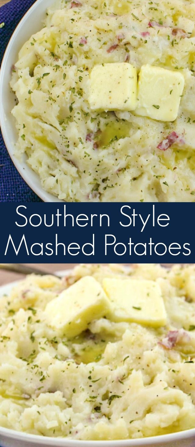 Southern Style Mashed Potatoes are the ultimate comfort food. Made with just five, couldn't be easier to make. #mashedpotatoes #potatoes #sidedish #easyrecipe