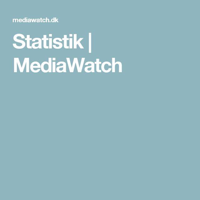 Statistik | MediaWatch