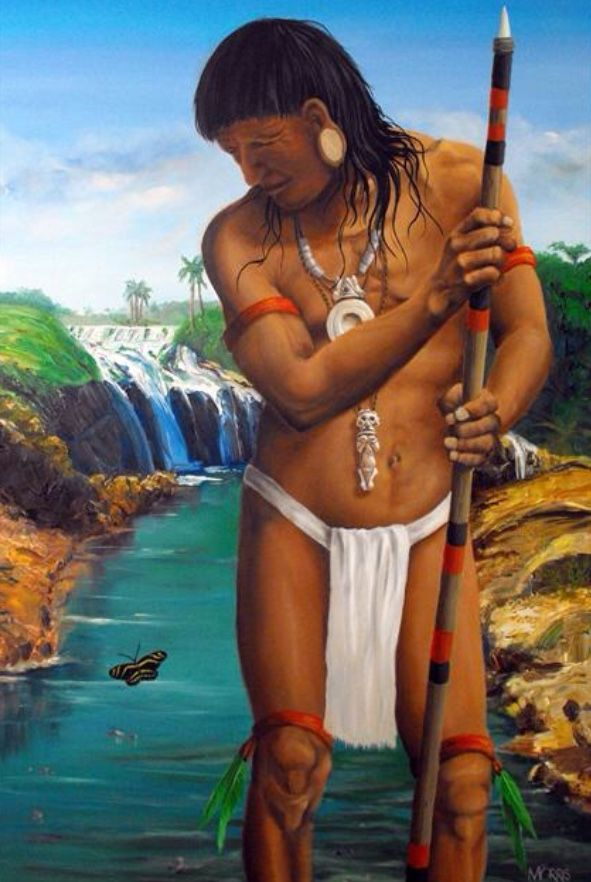 Taino man. (Tainos are Native American/Indians from ...
