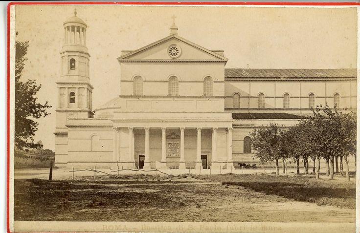 Italie Latium Rome Basilique Saint-Paul-hors-les-Murs Vintage Print. Tirage albuminé 11x16 Circa 1880