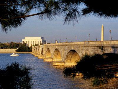 Arlington Memorial Bridge, linking Washington, D.C. to Arlington, Virginia