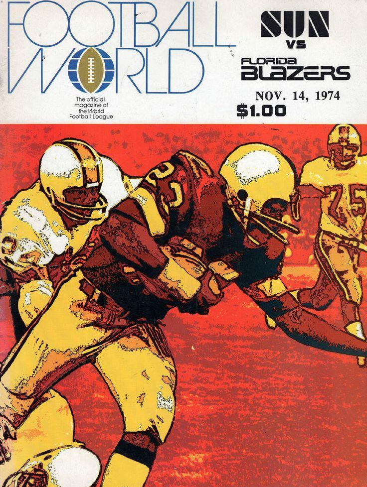 1974 WORLD FOOTBALL LEAGUE PROGRAM SOUTHERN CAL SUN VS. FLORIDA BLAZERS