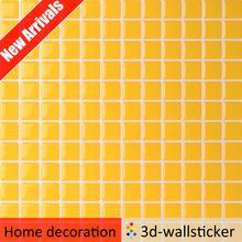 Nueva llegada impermeable imitación azulejo azulejo panel de pared de plástico para cocina de pared de mosaico de arte