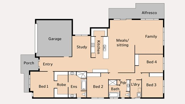 Simple Floor Plan For A Big Family Custom Home Pinterest
