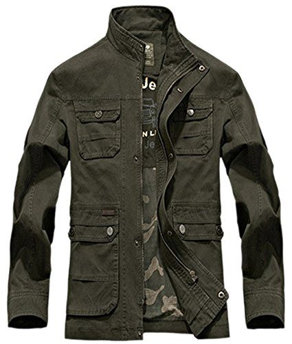 Mrignt Men's Cotton Casual Jeep Jacket