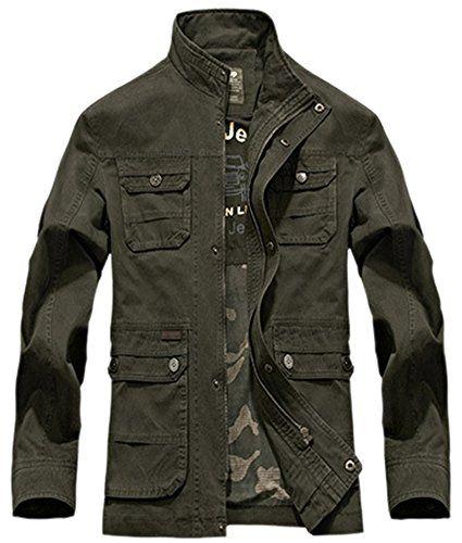 Mrignt Men's Cotton Casual Jeep Jacket