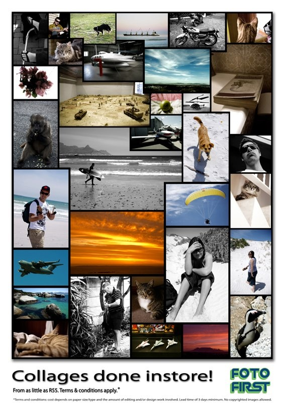 Collages done in-store! Your special #memories - all in one place. Speak to us at Fotofirst Mossel Bay about our wide variety of #photographic services: 044 695 2858