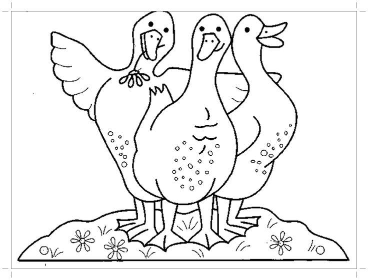 Гуси лебеди раскраска