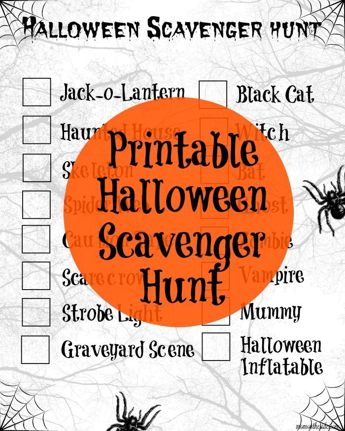 Best 25 Halloween Scavenger Hunt Ideas On Pinterest