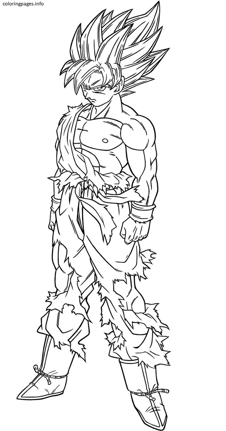 dragon ball z goku coloring pages Goku zeichnung