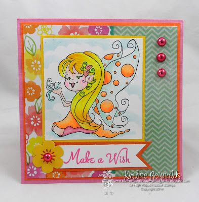 """High Hopes Stamps: """"Make a Wish"""" by Kristine using New Release """"Julie's Moment"""" (S521) & Sentiment Set #1 (U500)"""