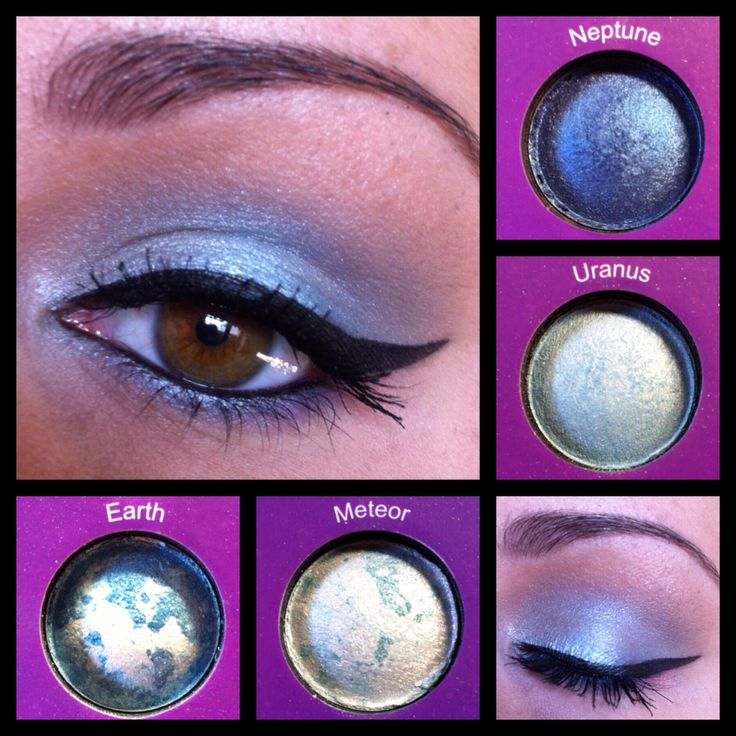 Shimmery Blue. Using BH Cosmetics Galaxy Chic Palette