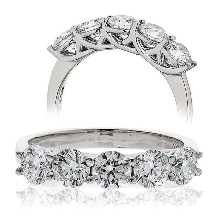 Five stone diamond ringTotal Diamond Weight 0.75 Carat