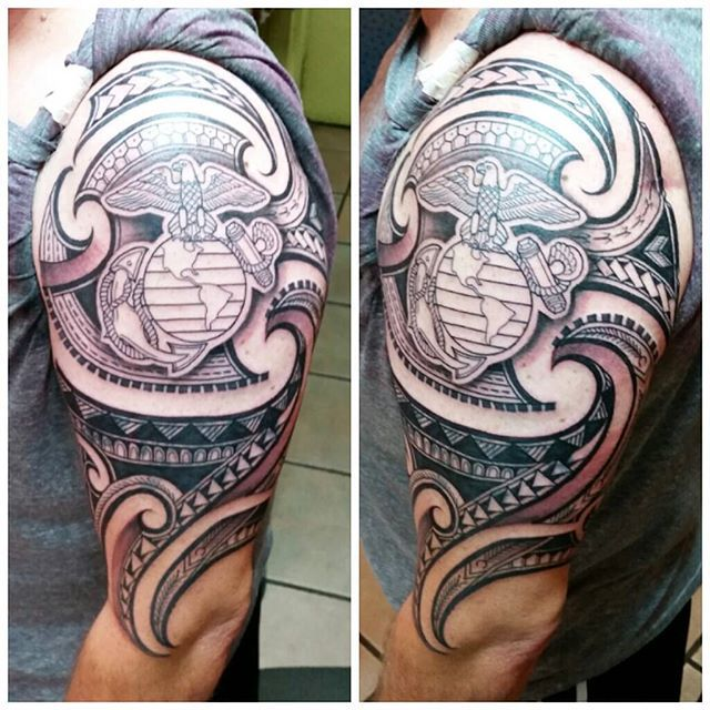Best 25 marine corps tattoos ideas on pinterest usmc for Usmc sleeve tattoo ideas