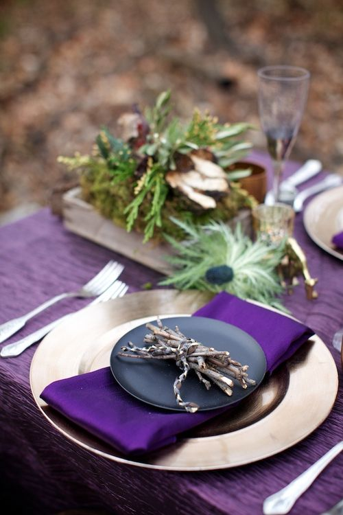 Pretty in Purple table settings & 367 best Lets Set The Table! images on Pinterest | Dish sets Dishes ...