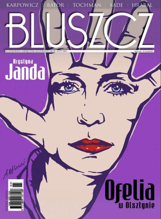 Okładka magazynu Bluszcz (02/2011) zaprojektowaną przez Andrzeja Pągowskiego