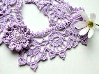 Uncinetto e crochet: Bordo gioiello a crochet, color glicine