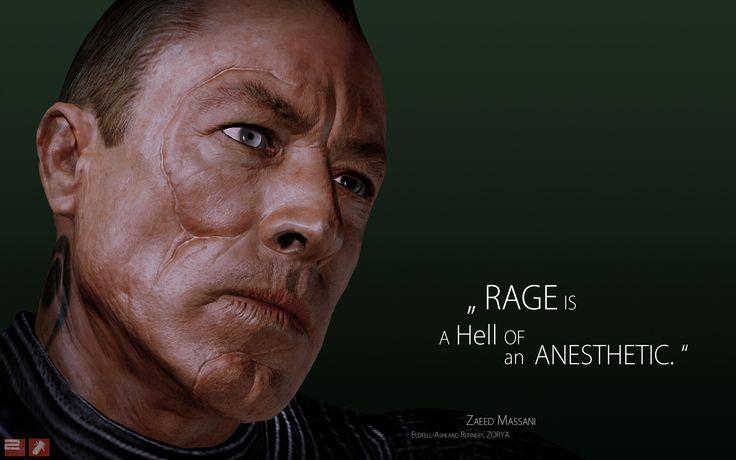Mass Effect 3 Characters | Download Original mass effect 3, zaeed massani, quote, look, character ...
