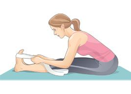 Seated forward bend: Do this #stretch after every workout to improve flexibility and prevent injury