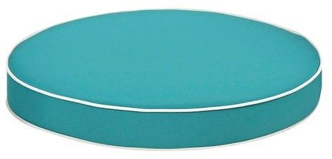 Grand Basket Harrison Sectional Piping Ottoman Replacement Cushion Turquoise/White