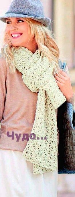 291 Кружевной шарф