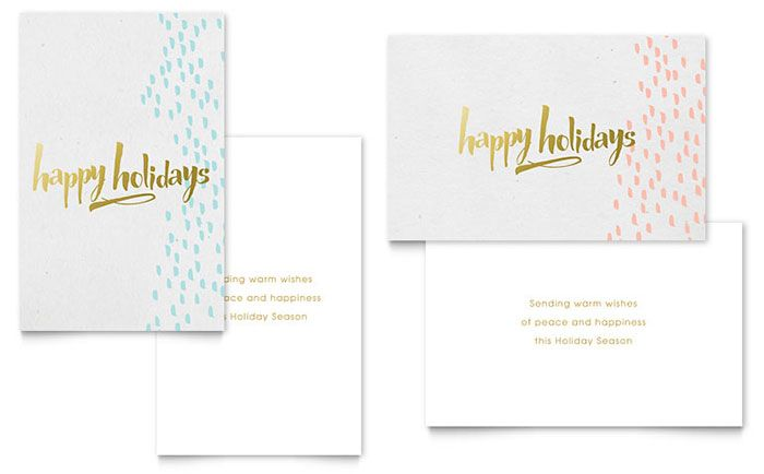 Elegant Gold Foil Greeting Card Template Design By Stocklayouts