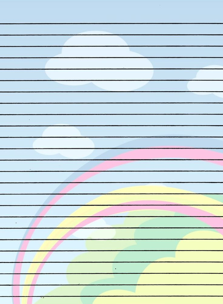 Rainbow writing paper