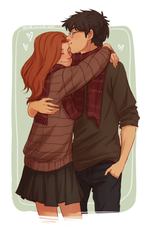 Harry and Ginny or it could be Lily and James too<<<< its Harry and Ginny because of the glasses