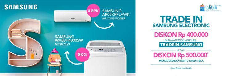 Dapatkan potongan harga khusus elektronik Samsung di #blibli belanja banyak tetap hemat DISKON Rp 400.000
