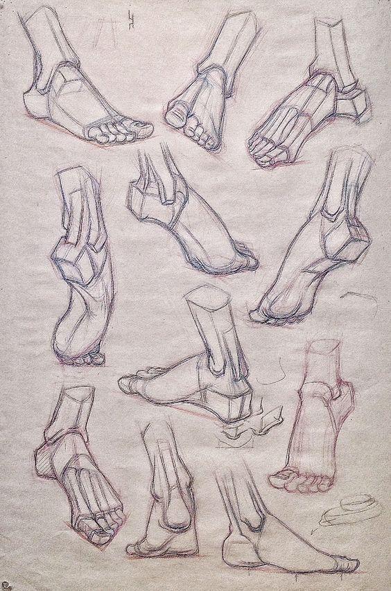 стопа человеческая картинка для рисования классическом