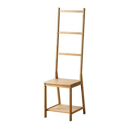 RÅGRUND Stoel met handdoekenrek IKEA Stoel en handdoekenhanger in één; bespaart plaats én biedt ruimte. Bamboe is een slijtvast natuurmateriaal.