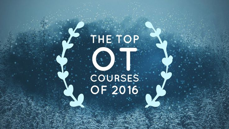 The Top Occupational Therapy Courses of 2016.  Pinned by OTToolkit.com. Treatment plans and patient handouts for the OT working with physical disabilities and geriatrics.