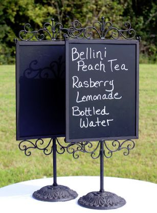 Tabletop Chalkboard Signs (2 Available) #Wedding #Rental #WeddingRental  #Vintage #
