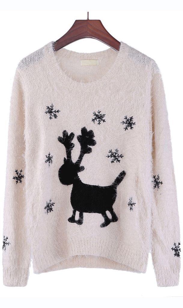 Christmas sweater apricot