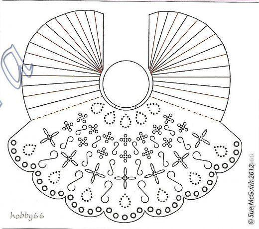Поделка изделие Новый год Рождество Пергамано Среброкрылые крылорукие + схема Бумага фото 2