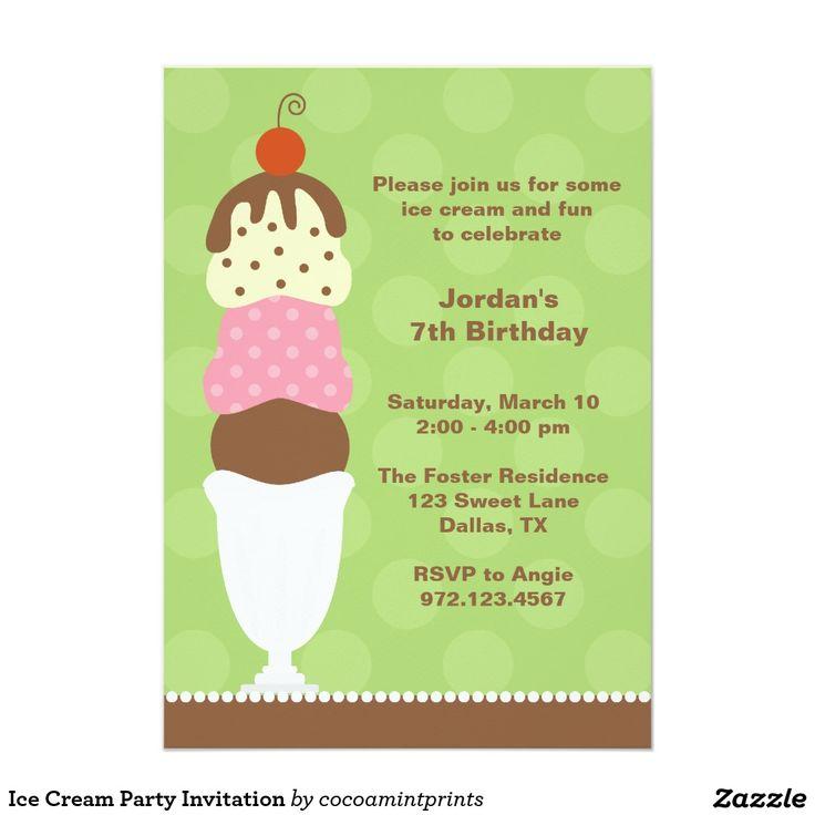 58 best Invites Ice Cream Party images on Pinterest Ice cream - invitation template online
